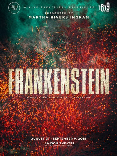 "SEPT. 1 STUDIO TENN PRESENTS ""FRANKENSTEIN"": Through"