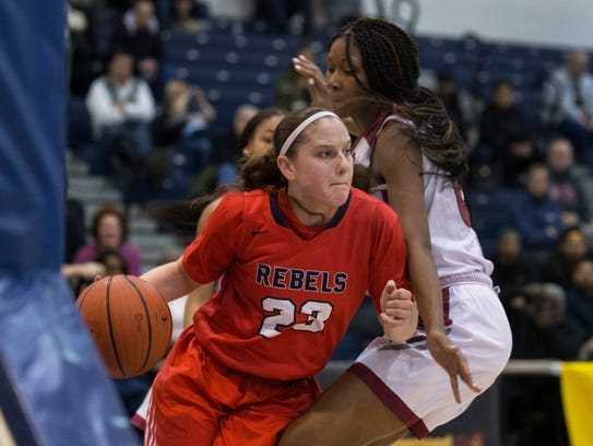 Saddle River Day's Michelle Sidor (23) drives under