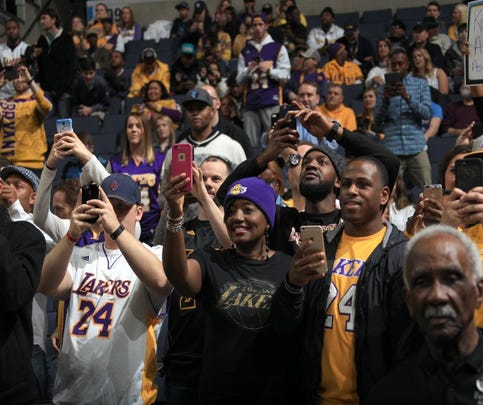 February 24, 2016 - Kobe Bryant fans turn out for his last game in Memphis and welcome the Los Angeles Lakers against the Memphis Grizzlies at FedExForum. (Nikki Boertman/The Commercial Appeal)