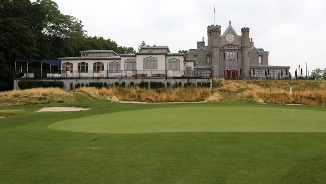 The 18th green at Rye Golf Club.