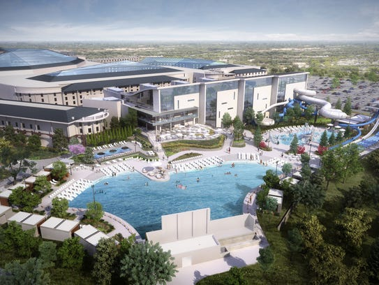 A rendering of the water park planned for Gaylord Opryland