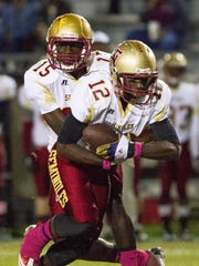 Florida High quarterback Ronnie Harrison and running back Makel Young wrecked Leon's defense during the Seminoles' 35-21 win over the Lions last year.