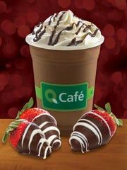 QuickChek's chocolate-covered strawberry frozen chocolate treat .