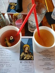 Singapore Sling and Pimm's Cup Daq from St. Cecelia in New Orleans.