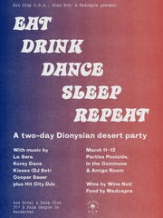 Poster of event at Ace Hotel and Swim Club in Palm Springs.