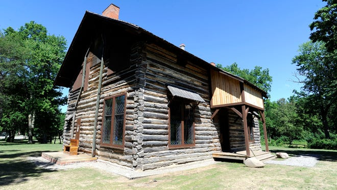 The  log cabin was built in 1885 for former Senator Thomas W. Palmer and his wife, Lizzie Merrill Palmer at Palmer Park, Tuesday, June 20, 2017.