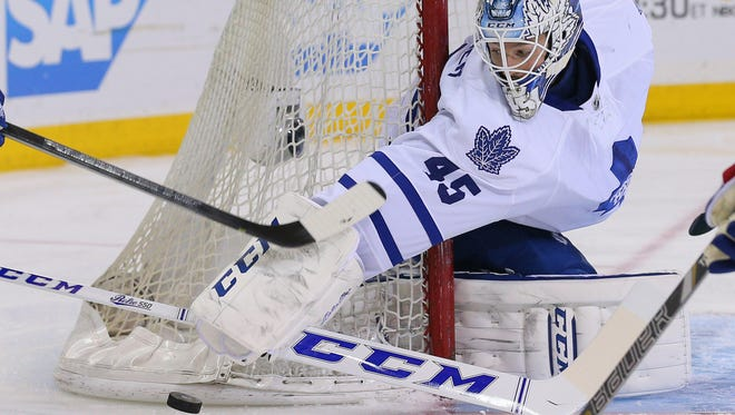 Jonathan Bernier and James Reimer will battle for playing time, though Bernier is expected to get more starts.