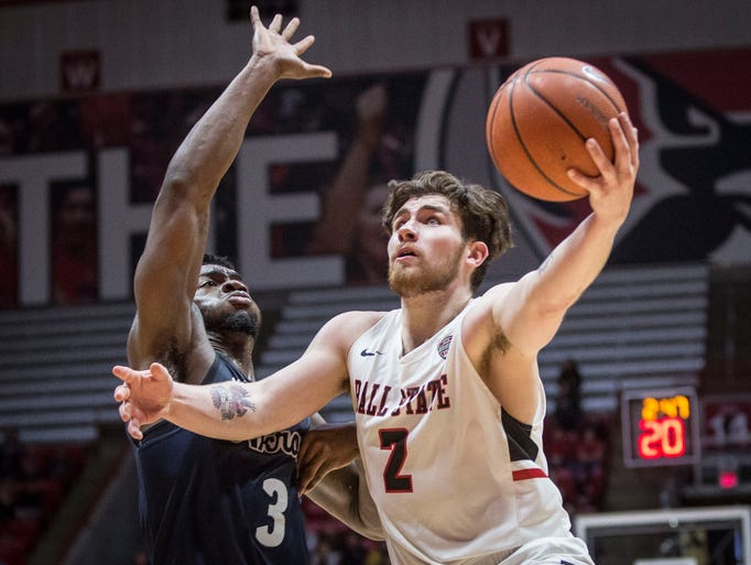 Ball State University took on Akron on Jan. 27 inside
