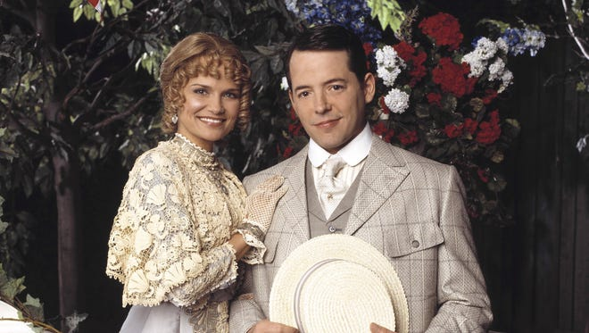 Matthew Broderick and Kristin Chenoweth in 'Meredith Wilson's Music Man' on ABC.