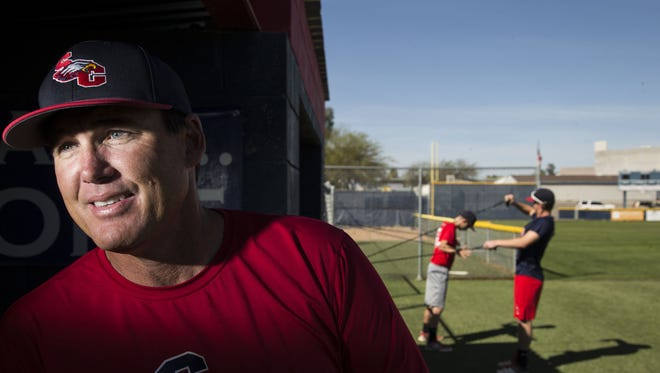 Former Angels baseball player Tim Salmon leading Scottsdale Christian's baseball program as head coach.