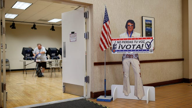 An early primary election polling site in Las Vegas.