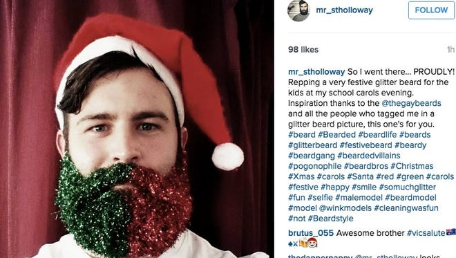 Glittery beards are taking over the internet.