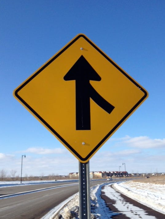 letter  merge signs do not mean yield  nor stop