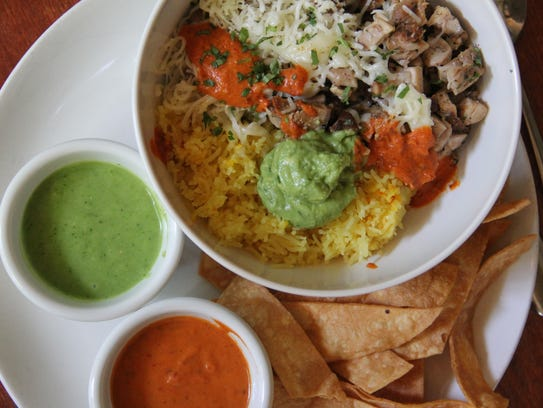 A Fulton Valley Grilled Chicken bowl comes with smoky