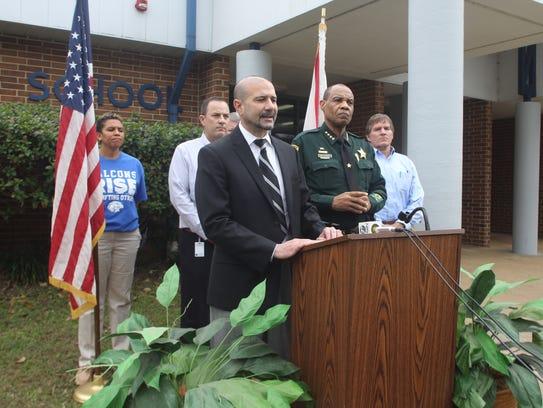 Superintendent Rocky Hanna and Sheriff Walt McNeil