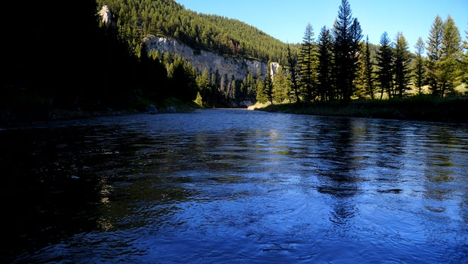 Smith River between Ridge Top campground and Givens campground.