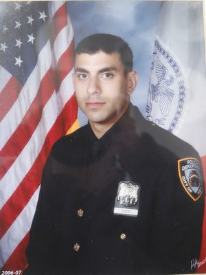Family photo of NYPD Officer Andrew Dossi of Stony Point on Jan. 6, 2015.