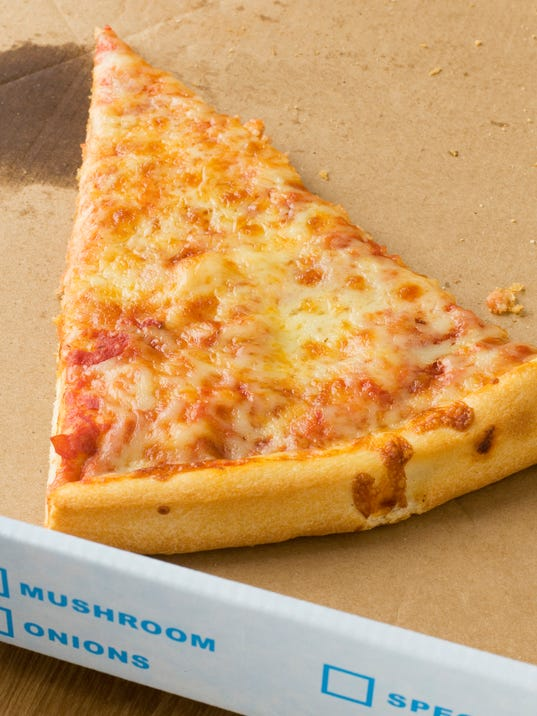 Slice of pizza in a box