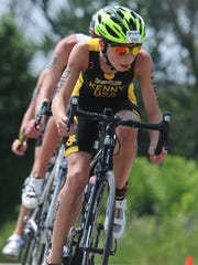 Tyler Kenny cycling at Nationals in Ohio this summer.