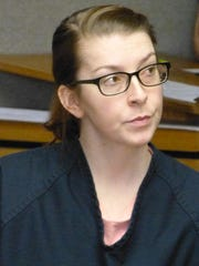 Kendra Andersen-Schwegerl is shown during a previous appearance in Shasta County Superior Court.