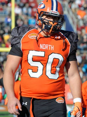 Hobart offensive lineman Ali Marpet was the only Division III player invited to the NFL Scouting Combine in February.