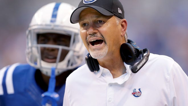 Among the Colts who've never been to London before:  head coach Chuck Pagano.