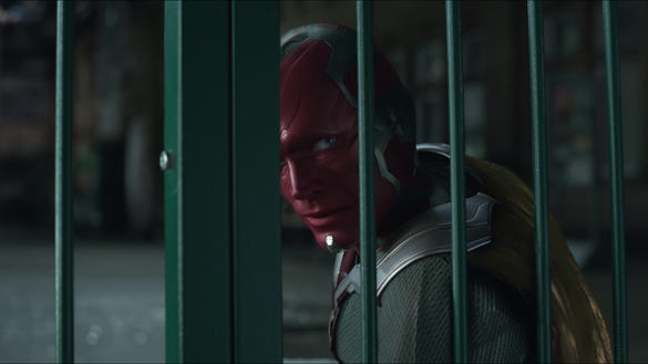 """Vision (Paul Bettany) in """"Avengers: Infinity War."""""""