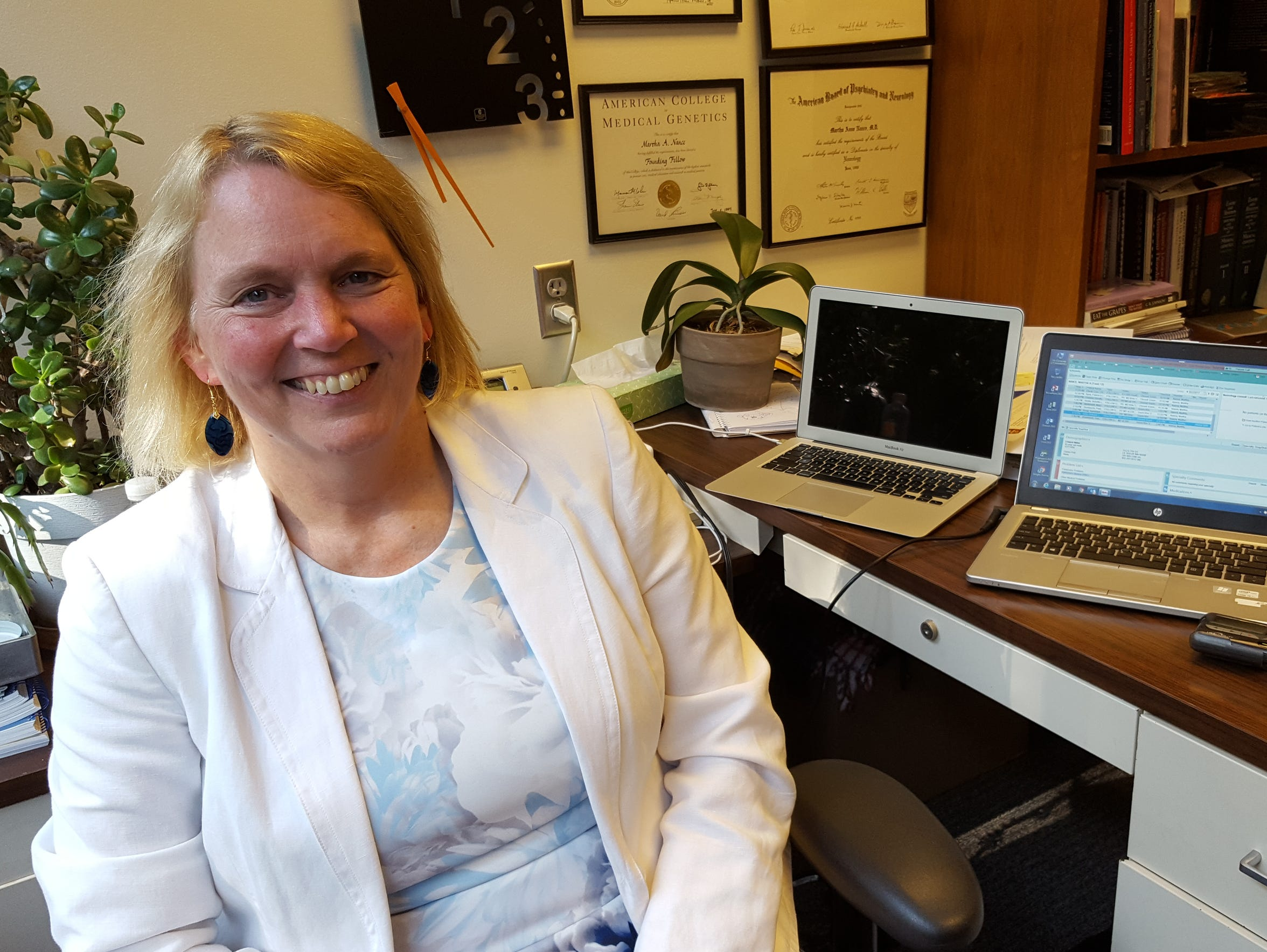 Dr. Martha Nance, an expert in genetics, poses for