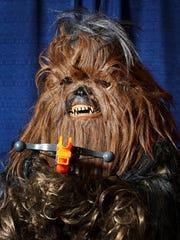 Charles Walsh of Granger, Indiana dresses like Chewbacca