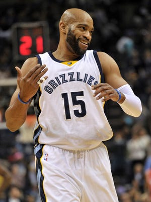 Memphis Grizzlies guard Vince Carter celebrates his 40th birthday today.