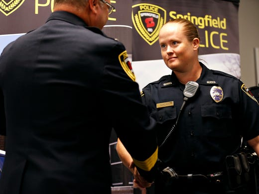 Awards ceremony recognizes officer who police say was