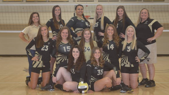 The Hayesville volleyball team and coaches.