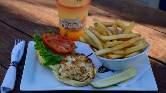 The crab cake is The Starboard's most popular sandwich.
