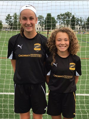 Cincinnati United Premier players Kailyn Dudukovich, left, and Brooklyn Harris will take part in the girls U14 U.S. national team camp.