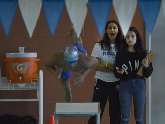 Passaic Tech Justin Conillas boys swimming state sectional