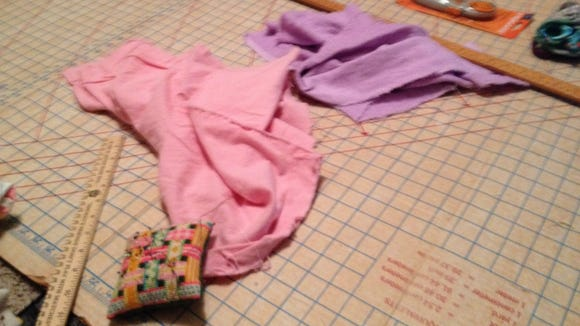 Supplies needed for the burp cloths