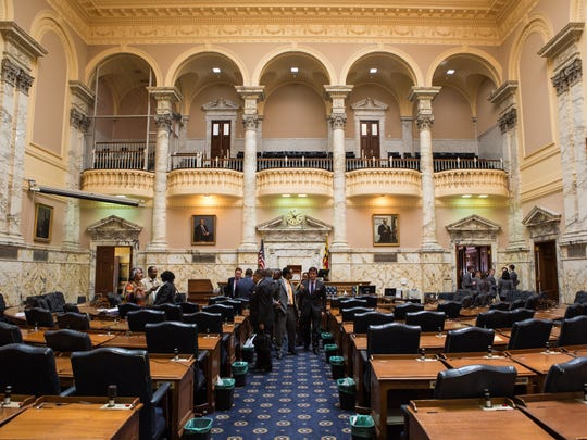 A view of the House of Delegates Chamber at the Maryland