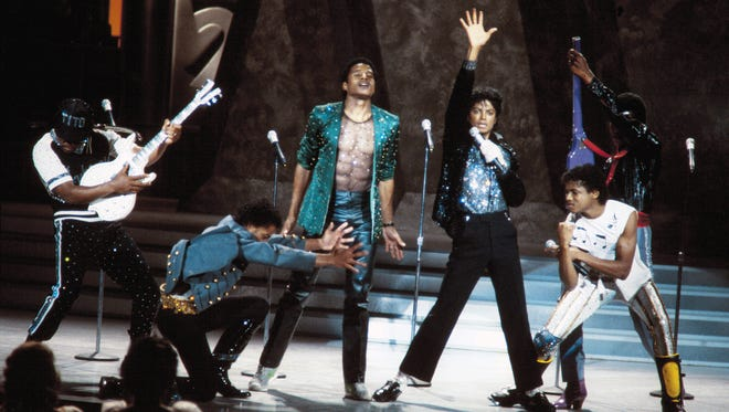 """Michael Jackson reunited with his brothers, the Jackson 5, to perform a medley of their hits on the 1983 special, """"Motown 25: Yesterday, Today, Forever."""""""