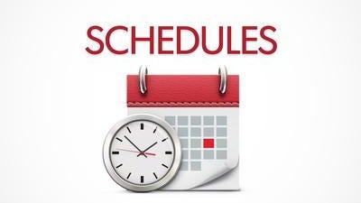 Area Schedule