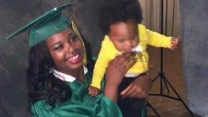 Myneishia Johnson with her son