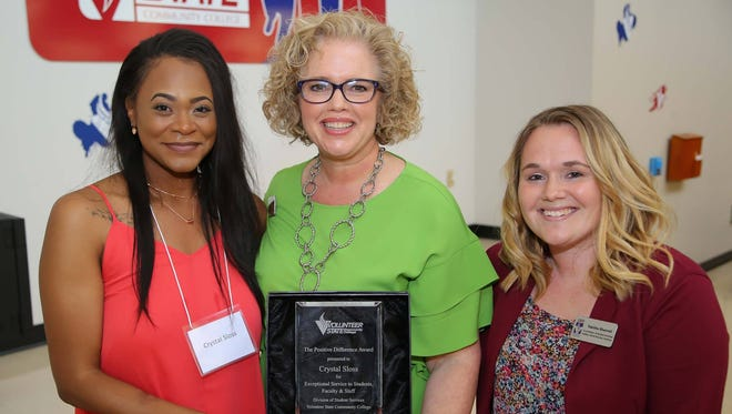 Crystal Sloss of Gallatin is one of many to receive awards from Volunteer State Community College Wednesday.