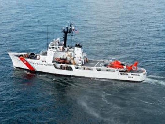 The U.S. Coast Guard Cutter Dauntless is back at Naval Air Station Pensacola after a patrol mission that included helping to detain more than 80 migrants and seizing illegal drugs.