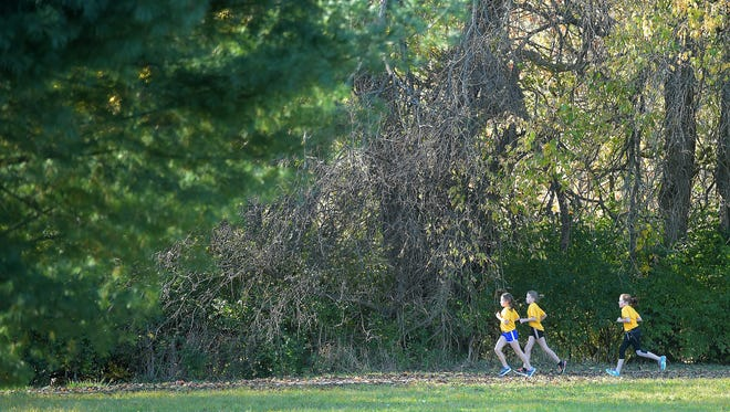 """Students from local private schools participate Nov. 9  in the """"Run of Champions"""" at Glen Miller Park in Richmond."""
