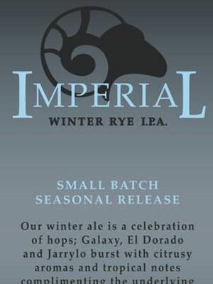 The Imperial Winter Rye IPA is now on tap at The RAM.