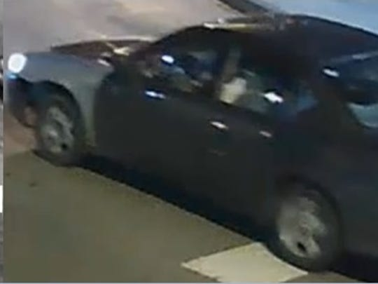The FBI said the suspected child abductor was driving this 2002 or 2003 Chevy Malibu with mismatched front fender at the time of the kidnapping.