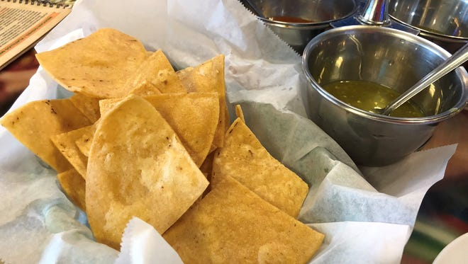 Chips and salsa at Garibaldi Bakery and Mexican Restaurant