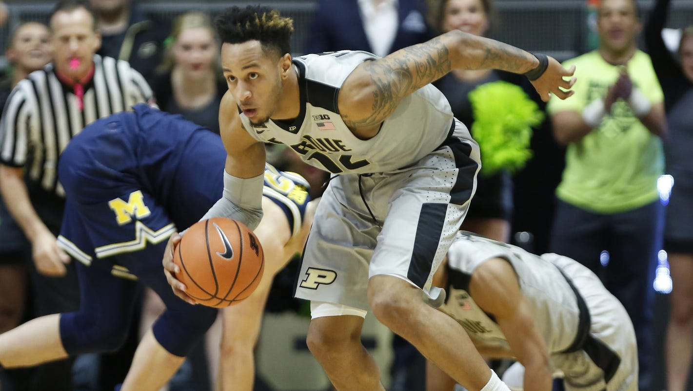Purdue's Vincent Edwards will miss Penn State game with ankle injury