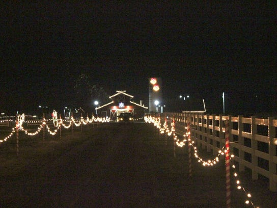 A view of Candy Cane Lane at Rutledge-Wilson Farm Park.