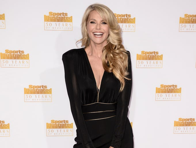 Model Christie Brinkley celebrates the 'Sports Illustrated' Swimsuit Issue's 50th anniversary on Jan. 14 in Los Angeles. Brinkley turns 60 on Feb. 2.