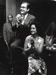 Robert E. Gable, with his wife, Emily is the winner